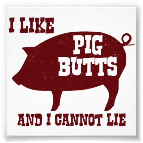 i like pig butts and i cannot lie