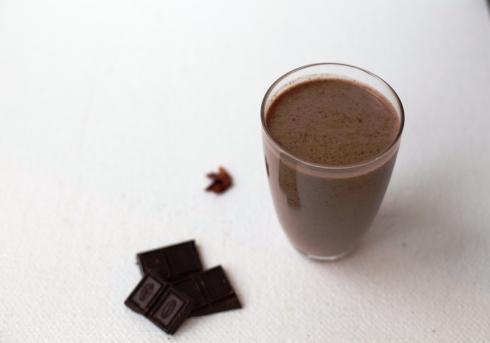 smoothie ciocolata banane